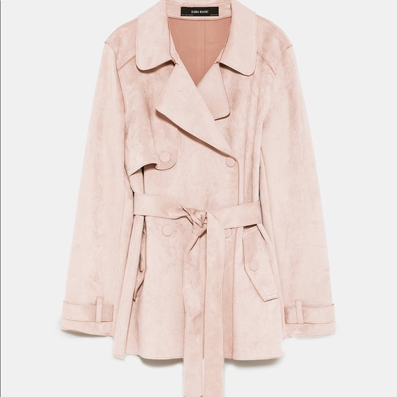 professional sale amazing selection best place Zara NWT nude pink XS faux suede short trench coat NWT